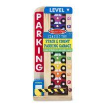 Melissa & Doug Fa készségfejlesztő játék, Színes-számos autós parkoló torony