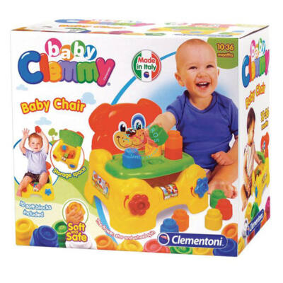 Clemmy  puha, bébi építőjáték szett - Kutyusos szék