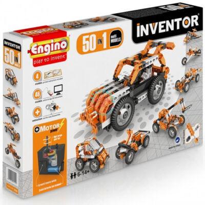 Engino Inventor 50 az 1-ben építőjáték Motorizált multi modellek