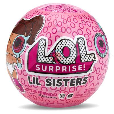 LOL Surprise meglepetés LIL baba rózsaszin gömbben