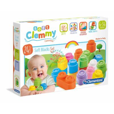 Clementoni Clemmy puha építőkockák 24 db-os szett