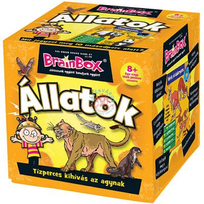 Brainbox állatok  memória és kvíz kérdés társasjáték