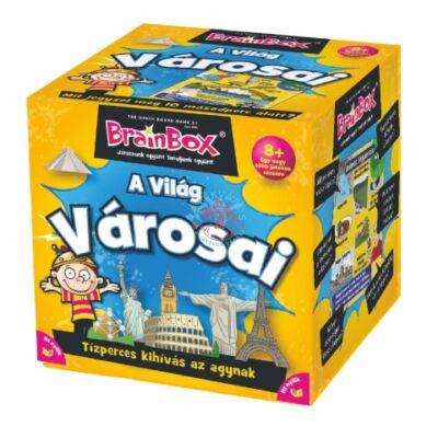 Brainbox világ városai memória és kvíz kérdés társasjáték