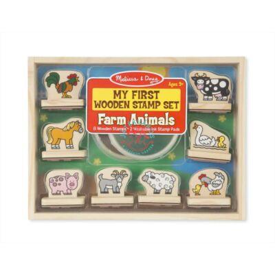 Melissa & Doug Fa nyomda készlet farm állatai