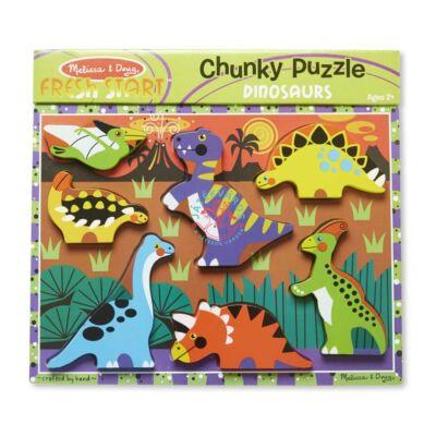 Melissa & Doug fa könnyen megfogható puzzle dinó