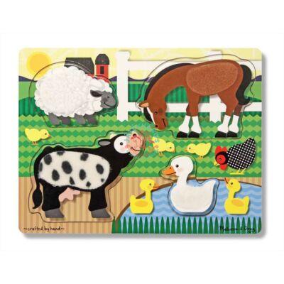 Melissa & Doug fa tapintós puzzle farm