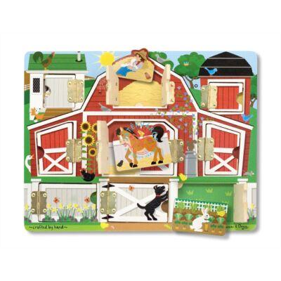 Melissa & DougFa készségfejlesztő játék mágneses bújócska ház