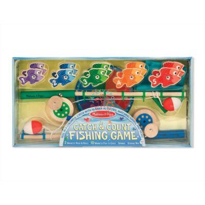 Melissa & Doug Fa készségfejlesztő játék, Mágneses-számos horgászat