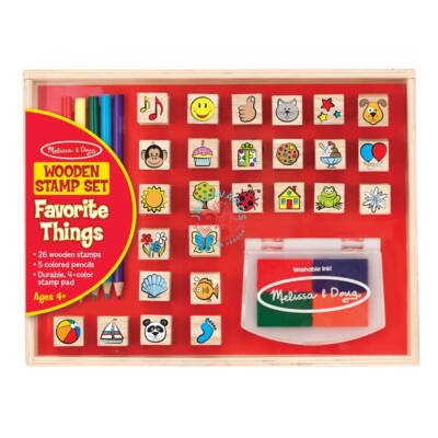 Melissa & Doug Fa játék nyomda készlet ceruzákkal