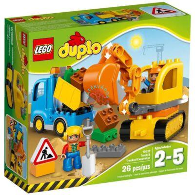 LEGO DUPLO Town Teherautó és lánctalpas exkavátor 10812