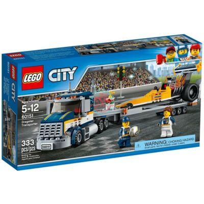 LEGO City Great Vehicles Dragster szállító kamion 60151