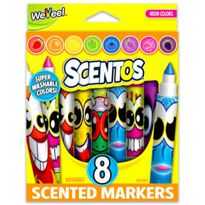 Scentos Illatos filctoll 8 db - Neon színek