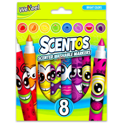 Scentos Illatos filctoll 8 db - Élénk színek