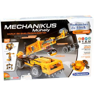 Clementoni Tudomány és játék Mechanikus Műhely emelőszerkezetek