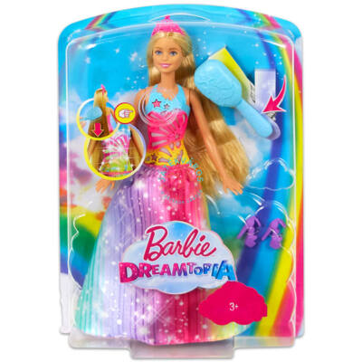 Barbie Dreamtopia Tündöklő,zenélő hercegnő mágikus fésűvel