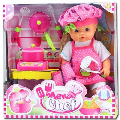 Bambolina Nena, a kis kukta játék baba kiegészitőkkel