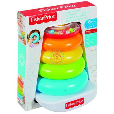 Fisher Price Kacagj és Fejlődj! színes gyűrűpiramis