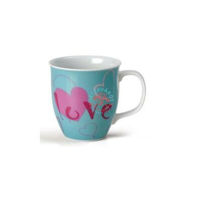 Nici porcelán bögre Love kék