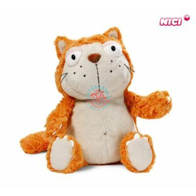 Nici Plüss macska 35 cm narancs