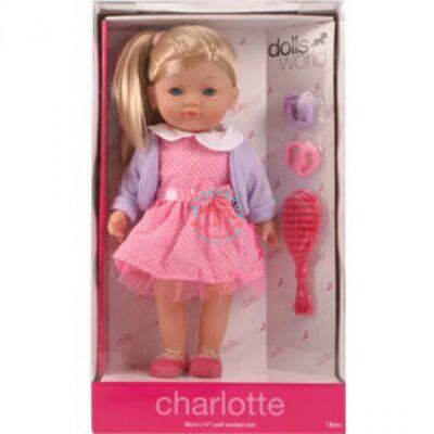 Charlotte fésülhető puha baba,szőke 36 cm