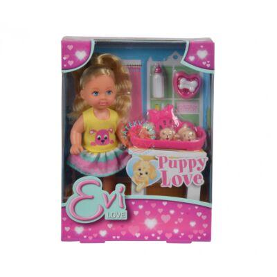 Steffie Love: Évi baba kiskutyákkal játékszett Simba Toys