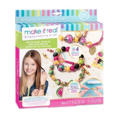 Make It Real ékszerkészítés,dekupázs gyöngyök