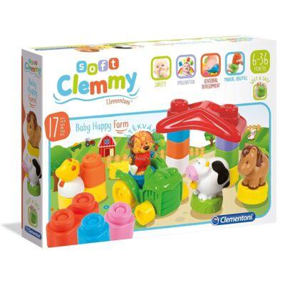 Clementoni Clemmy Baby Boldog Farm puha építőjáték 14954