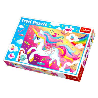 100 db-os Unikornis puzzle Trefl