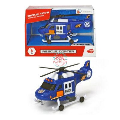 Rendőrségi játék helikopter fénnyel hanggal 15 cm
