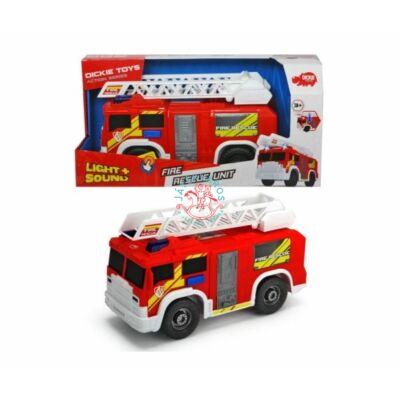 Dickie Toys: Létrás tűzoltóautó fénnyel és hanggal, 30 cm