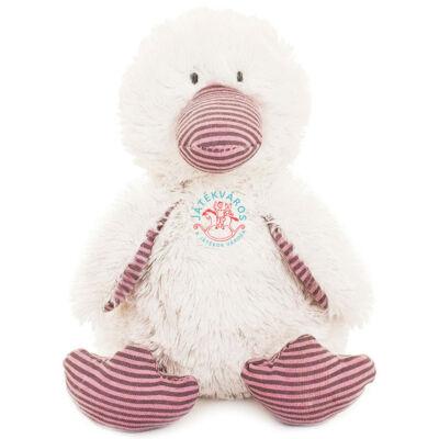Teddykompaniet Nellie kacsa,rózsaszín csíkos plüss