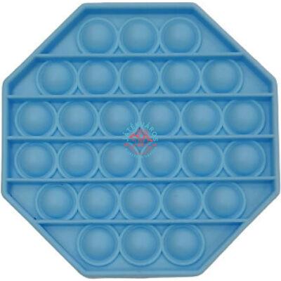Pop it - Nyomás alatt logikai játék, nyolcszög-kék Tiktok sztár