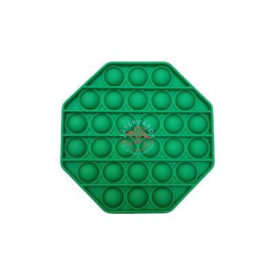 Pop it - Nyomás alatt logikai játék, nyolcszög-zöld