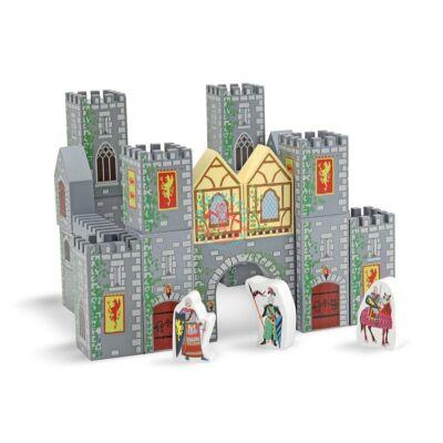 Melissa & Doug Fa építőjáték, kastély vár