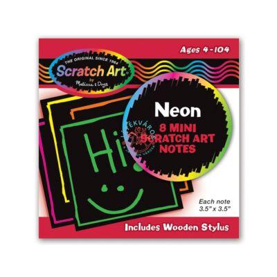 Melissa & Doug kreatív játék: Képkarc-mini neon