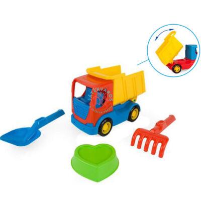 Wader Tech Truck dömper homokozó szettel 70421