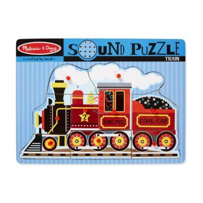 Melissa & Doug Hangos fa puzzle-Vonat