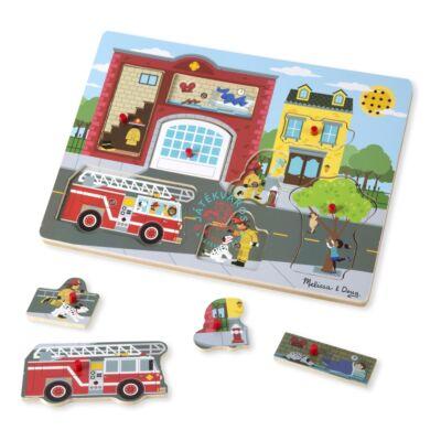 Melissa & Doug Hangos puzzle-Tűzoltóállomás