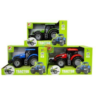 Játék traktor több színben 18 cm