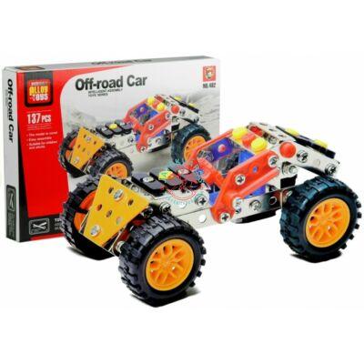Offroad autó fém építőjáték 137 db-os