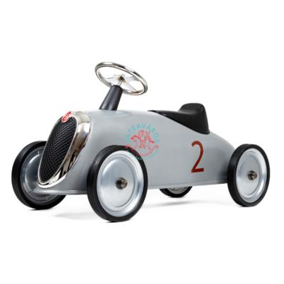 Baghera Ezüst színű Vintage stílusú  lábbal hajtós fém Rider bébitaxi