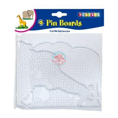 Playbox Forma  vasalható gyöngyhöz, nagy méret, 2 db, átlátszó, zsiráf-elefánt