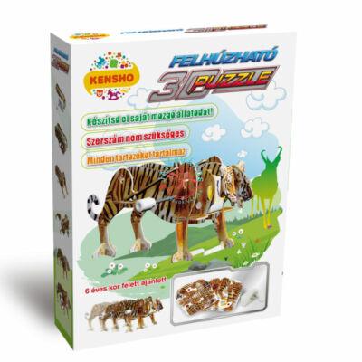 3D puzzle felhúzható tigris