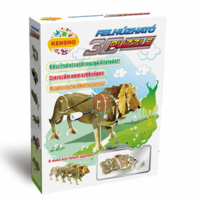 3D puzzle felhúzható oroszlán