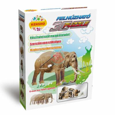 3D puzzle felhúzható elefánt