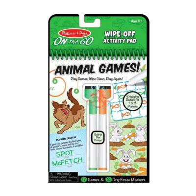 Melissa & Doug Kreatív játék, Letörölhető lapok, állati játékok