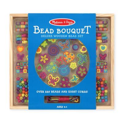 Melissa & Doug Kreatív játék:Fa gyöngy szett, bokréta