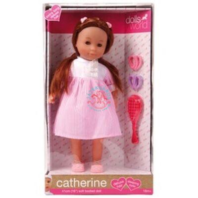 Catherine baba barna extra hosszú hajjal 41 cm