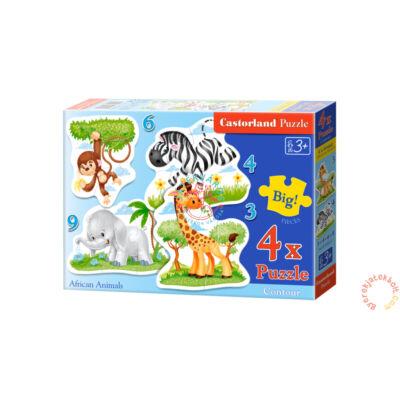 Afrikai állatok 4 az 1-ben puzzle Castorland