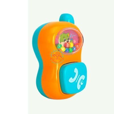 Csörgő bébi játék telefon, többféle